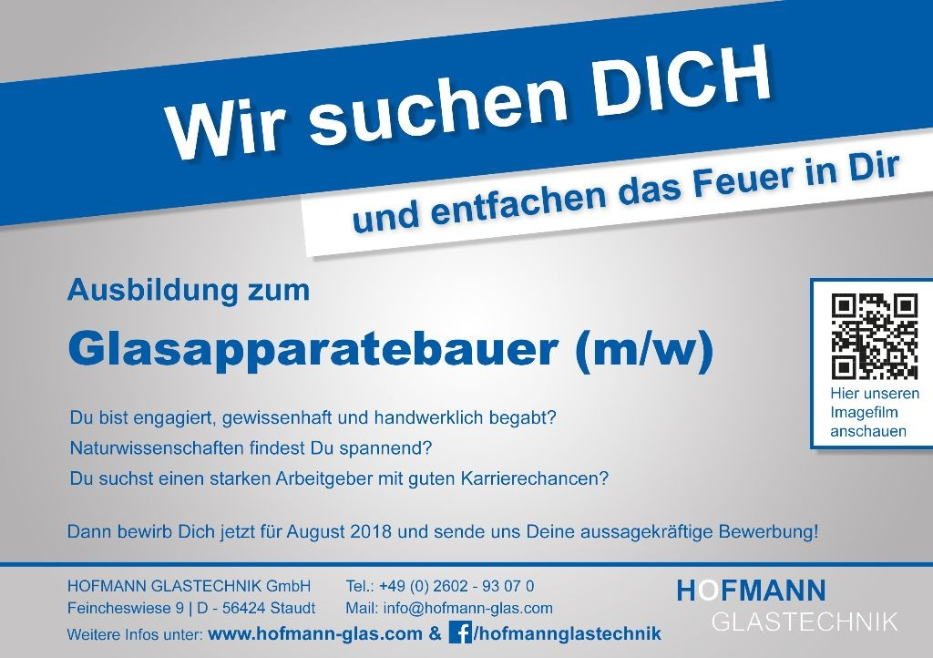 HofmannGlastechnik_Anzeige Azubi 2018